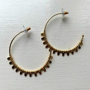 Stella & Dot Petal Hoops in Gold